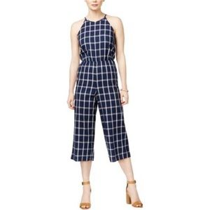 Maison Jules Tie Back Windowpane Jumpsuit, XL